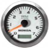 Аналогов оборотомер с брояч на часовете - Бял